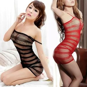 Dresses & Skirts - Red or black sexy lingerie fishnet bodystocking.